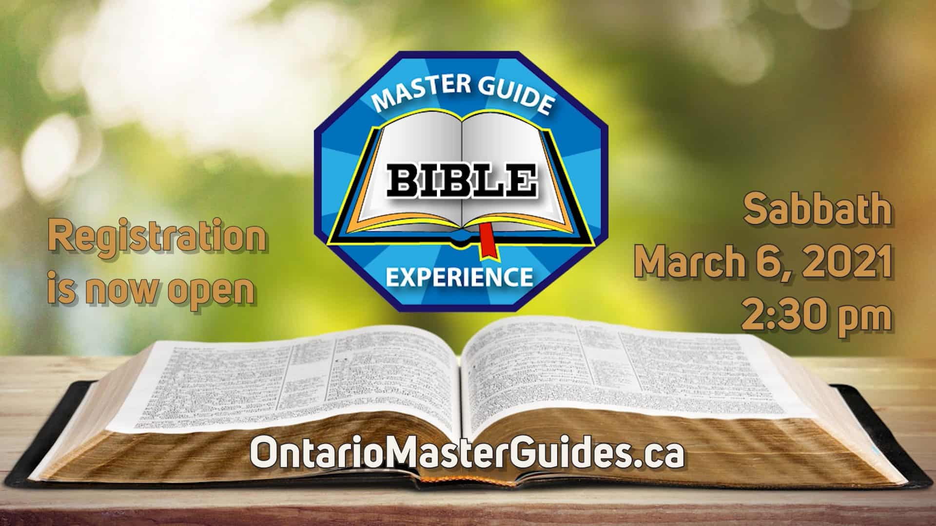 Master Guide Bible Experience – March 6, 2021